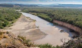 Rio Grande River op de Grens van Mexico Stock Foto's