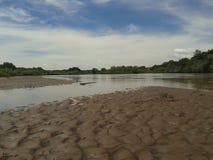 Rio Grande Sandbar Fotografía de archivo libre de regalías