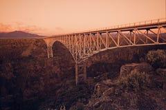Rio Grande-Schlucht-Brücke Stockfotografie