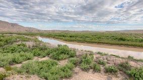 Rio Grande, Sierra Del Carmen Mountains, Big Bend National Park, TX Stock Photos