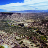Rio Grande Valley och Sangre de Cristos Range - NM Arkivbilder