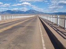 Rio Grande wąwozu most w Nowym - Mexico obraz stock