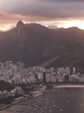 Rio Harbor And Christ Redeemer Photographie stock