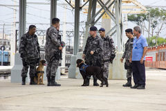 Rio holds anti terrorism training for the Olympic Games Rio 2016 Royalty Free Stock Photo