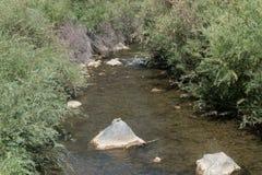 Rio Hondo arroyo in northern New Mexico. The Rio Hondo arroyo flows during the summer towards the Rio Grande near Taos New Mexico royalty free stock photography
