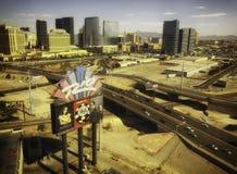 Rio Hotel Sign - som är hem- av världsserie av poker Arkivfoto