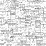 Rio houses seamless pattern Royalty Free Stock Photography