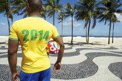Rio 2014 internacional do futebol do jogador de futebol de Brasil Fotos de Stock