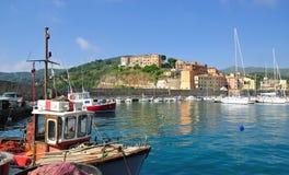 Rio-Jachthafen, Elba-Insel, Italien stockfotos