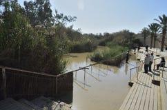 Rio Jordão o lugar do batismo Fotos de Stock Royalty Free