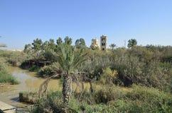 Rio Jordão o lugar do batismo Foto de Stock Royalty Free