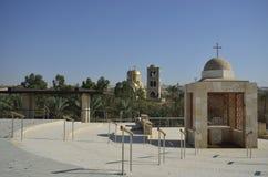 Rio Jordão o lugar do batismo Fotografia de Stock Royalty Free