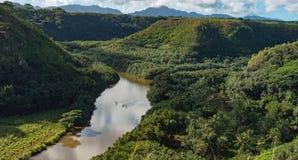 Rio kauai Havaí de Wailua Imagens de Stock