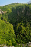 Rio Komarnica da garganta Foto de Stock Royalty Free