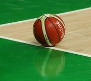 Rio 2016 koszykówka przy boisko do koszykówki przy Carioca areną 1 podczas Rio 2016 olimpiad Obraz Stock