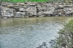 Rio Kuban na república de Karachay-Cherkess Fotos de Stock Royalty Free
