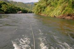 Rio Kwai Kanchanaburi do curso de Tailândia Fotografia de Stock