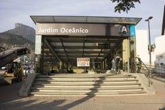 Rio 2016 : Les travaux de métro peuvent retarder en raison de la crise économique Images stock