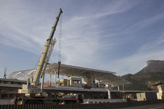 Rio 2016 : Les travaux de métro peuvent retarder en raison de la crise économique Photos libres de droits