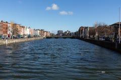Rio Liffey em Dublin, Irlanda, 2015 Imagem de Stock