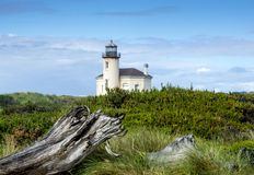 Rio Lighhouse de Coquille, Bandon Oregon foto de stock royalty free
