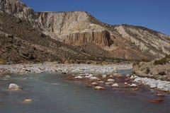 Rio Lluta no Altiplano do Chile foto de stock royalty free
