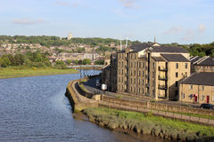 Rio Lune e cais Lancaster Inglaterra de St George Fotos de Stock Royalty Free
