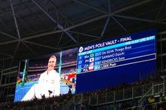 Rio 2016 mężczyzna słupa krypty Definitywna zaczyna lista Zdjęcia Stock