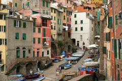 Rio Maggiore harbour. Fishers'village in Liguria, Italy Stock Image