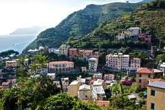 Rio Maggiore. Town, one of the 5 lands, Italy. View from above royalty free stock image