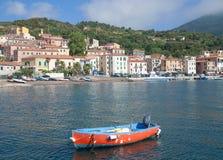 Rio Marina auf Elba Island, Italien stockfotos