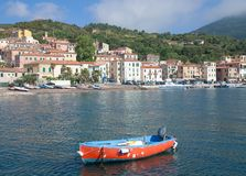 Rio Marina on Elba Island, Italy. The Village of Rio Marina on Elba Island,Tuscany,Italy stock photos
