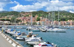 Rio Marina,Island of Elba,Tuscany,Italy. Village of Rio Marina on Island of Elba,Tuscany,mediterranean Sea,Italy royalty free stock photography