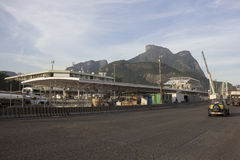 Rio 2016: Metro-Arbeiten verzögern möglicherweise wegen der Wirtschaftskrise Stockbild