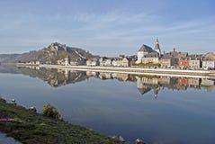 Rio Meuse e Givet fotos de stock