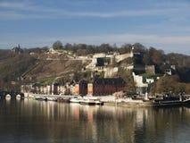 Rio Meuse em Namur, Bélgica foto de stock royalty free