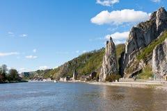 Rio Meuse perto de Dinant em Bélgica fotos de stock