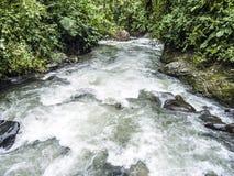 Rio Mindo västra Ecuador, flod Fotografering för Bildbyråer