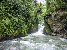 Rio Mindo västra Ecuador, flod Arkivbild
