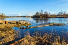 Rio Mologa do derramamento na primavera Fotografia de Stock