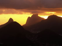 Rio Mountains Sunset Photo stock