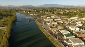 Rio Mt de Skagit Vernon Washington Downtown video estoque