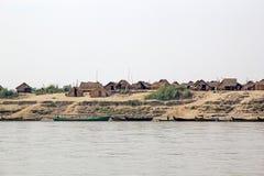 Rio Myanmar de Irrawaddy Imagem de Stock