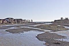 Rio Mzymta em Adler Fotos de Stock Royalty Free