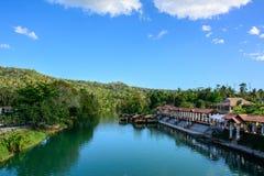 Rio na selva, ilha de Loboc de Bohol em Filipinas imagem de stock royalty free