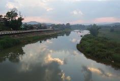 Rio Nan na Tailândia norte Fotos de Stock Royalty Free