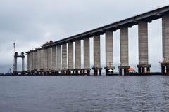 Rio Negro Bridge Construction Manaus Brazil Stock Images