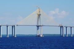 Rio Negro Bridge under konstruktion, circa Augusti 2011 Royaltyfria Foton