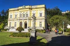 Rio Negro Palace - de officiële de zomerwoonplaats van de Voorzitters van Brazilië Stock Foto's