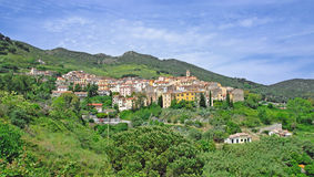 Rio nell Elba on Elba Island,Italy Royalty Free Stock Images